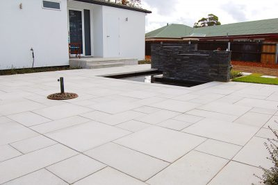 Anston Architectural pavers installed in an ashlar pattern.